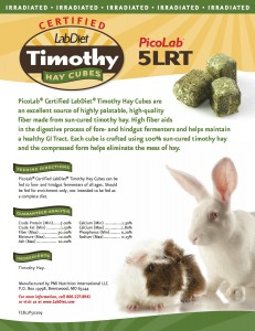 5LRT - PicoLab Certified Rabbit Timothy Hay Cubes